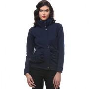 PURYS Navy Blue zip up Fleece jacket