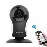 Anpwoo KP003 GM8135 + SC1145 960P HD WiFi mini IP-camera ondersteuning infrarood nachtzicht & TF-kaart (Max 64GB) (zwart)
