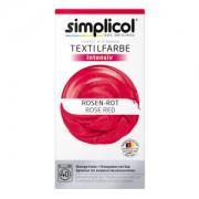 Brauns-Heitmann GmbH & Co. KG simplicol intensiv Textilfarbe, Flüssige Farbe und Fixierpulver mit Salz, Farbe: Rosen-Rot