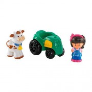 Fisher Price Little People Wheelies Mia and Tractor
