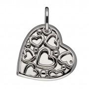 Lifetime Love 145.0118.00 Hanger Medaillon Hart zilver met briljant 0.005 - 24 mm