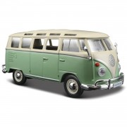 Modelauto Volkswagen T1 Samba Van busje groen 1:24 - speelgoed auto schaalmodel