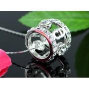 Swarovski kristályos nyaklánc Gyűrűs medál kövekkel