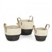 Kave Home Conjunto 3 cestas Kacey