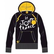 Tour De France Hooded Sweater Heren Logo Zwart Geel Maat XXL