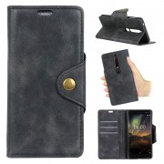 Nokia 6.1 Retro Wallet Case with Stand Feature - Black