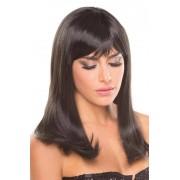Be Wicked Wigs Hollywood Pruik - Zwart