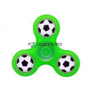 Fidget Spinner Fosforescent Football Verde