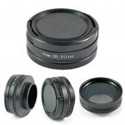 filter cpl 37mm circulaire polarisatie lens voor gopro hero 3 +/hero 3 hero4 sport naar pro camcorders black gp118 snelle leveren