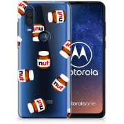 Motorola One Vision Siliconen Case Nut Jar
