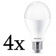 Philips Pack 4x Lâmpada LED 18.5W E27 Branco Quente