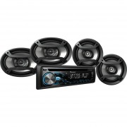 Combo De Auto Estereo Pioneer DXT-X4969BT Bluetooth Dos Bocinas-Negro