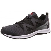 Reebok Men's Supreme Run Coal, Black, Metallic Silver and White Running Shoes - 11 UK/India (45.5 EU)(12 US)