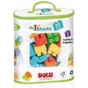 Primele cuburi de construit DOLU 30 piese Multicolor