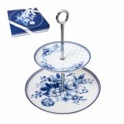 Этажерка 15/22см SiJ Синие кружева GC18072
