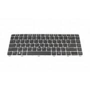 Tastatura laptop HP EliteBook 745 G3 fara iluminare rama argintie
