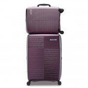 Samsonite Stack-IT 2 Piece Hardside Suitcase/Luggage Set Wheel Spinner Purple