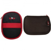 Sky Hard Disk Pouch Combo Red With Black