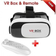 Sketchfab Compatible VR BOX 3D Virtual Reality Glass And VR Bluetooth Remote Combo