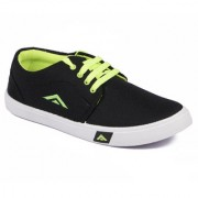 Asian Trainer Black Green Canvas Shoes For Men