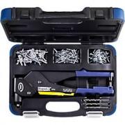 Rapid Blindklinktang Rapid RP60 Multi™, 360°-kop, voor klinknagels met 3,2/4,0/4,8 mm, incl. meetgereedschap, 3 boren, 150 klinknagels