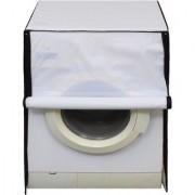 Glassiano White Colored Washing Machine Cover For IFB Elena Aqua VX-6 Front Load 6 Kg