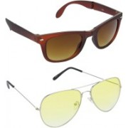 Redleaf Wayfarer, Aviator Sunglasses(Brown)