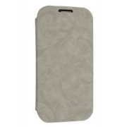 Premium Book-Style Slim Flip Cover for Samsung I9300 Galaxy S3 - Samsung Leather Wallet Case (Light Grey)