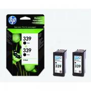 HP C9504EE (339) Printhead black, 860 pages, 21ml, Pack qty 2