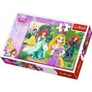 Puzzle Rapunzel, Merida, Ariel si Alba ca Zapada, 30 piese