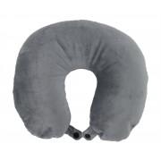 MN-5300G Micro-beads U-Shape Neck Pillow, Velour Cover – Gray