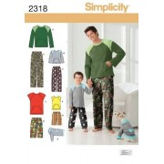 Creative Simplicity Sewing Pattern 2318 Boys' and Men's Loungewear and Dog Top, a (S L/S XL)