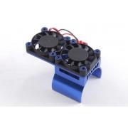Radiator aluminiu cu ventilatoare duble pentru motoare electrice -ventilatoarele deasupra