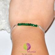 Bratara Therapy onix verde discuri mici si argint 925