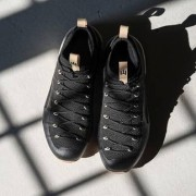 Naglev Herren-Lifetime-Sneaker, 46 - Schwarz/Grau-Melange