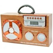 Hordozható hangszóró Bluetooth multimédia lejátszó Led világítás akkumulátorral Mp3,FM-Rádió, 3,5 jack, USB, Micro SD kártya - KA-C07