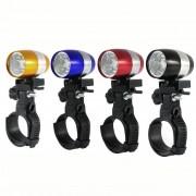 EH Luz Delantera De Bicicleta LED Lámpara Cabeza Alerta-Negro