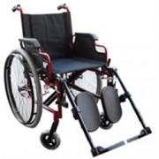 sedia a rotelle / carrozzina pieghevole - in alluminio - pedane elevab