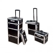 KEPRO TROLLEY BEAUTY BOX STAMPA COCCODRILLO BLACK