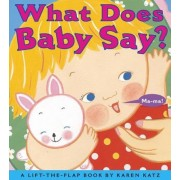 What Does Baby Say?: A Lift-The-Flap Book, Hardcover
