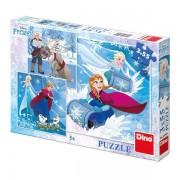 Puzzle 3 in 1 Frozen, 3 x 55 piese, 4-6 ani