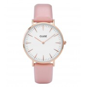 CLUSE Horloges La Boheme Rose Gold Colored White Roze