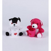 CUTE COUPLE(1) SOFT FABRIC(VALENTINES GIFT)(ASSORTED COLOUR)