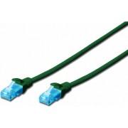 Cablu UTP Digitus Premium Patchcord Cat 5e 5m Verde