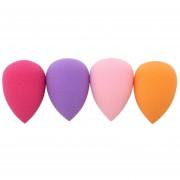 ER 4pc En Forma De Gota De Agua Batidora Esponja Maquillaje Puff Polvo Impecable -Multicolor