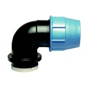 Plaströrskoppling Vinkelkoppling 90° invändig gänga PN10 40xR32