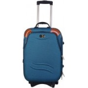 N T Turquoise Polyester 50 litres Suitcase Trolley Bag/Cabin Luggage Expandable Cabin Luggage - 22 inch(Blue)