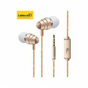 Audífonos Estéreo HD Manos Libres Deportivos, KDK-204 In-Ear 3.5mm Super Bajo Audífonos Para Mp3 Celular (Oro)