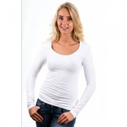 Garage Women Longsleeve T-Shirt Round Neck White ( art 0704) - Wit - Size: Extra Small