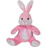 Ultra Cute Sitting Rabbit Soft Toy 10 Inches Pink